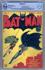 Batman #1 CBCS 9.6 (R) Origin by Bob Kane, 1st Appearance Joker, 1st Catwoman