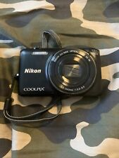 Nikon Coolpix S6800 16MP HD 1080p WiFi Black Camera. JUST THE CAMERA AND CASE.
