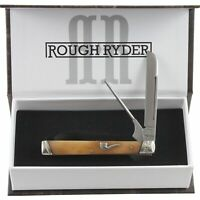 Rough Rider The Pipe Doctor Tobacco Bone Folding Pocket Knife RR1899
