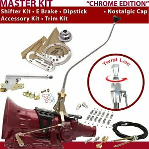 C4 Shifter Kit 23 Swan E Brake Cable Clamp Clevis Trim Kit Dipstick For F722C