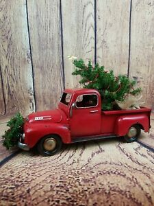 "Red Truck Christmas Decor 17""x11""x6"""