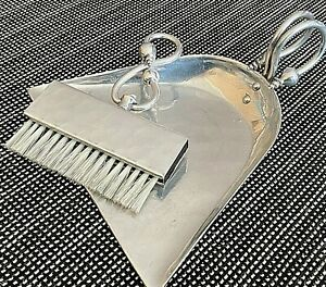 Vintage Hammered Aluminum Buenilum Brush & Crumb Sweeper Silent Butler Dust Pan