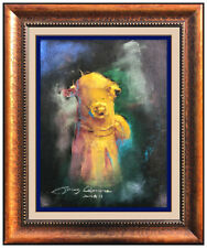 James Coleman Original Pastel Painting Signed Walt Disney Cityscape Framed Art