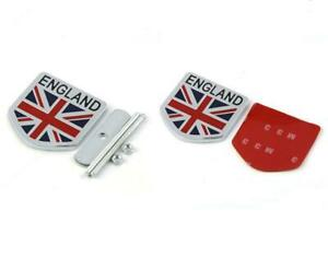 England Britain UK Flag Chrome Metal Front Grille Grill Emblem Badge For MINI