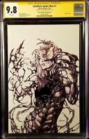 SYMBIOTE SPIDER-MAN #1 CGC SS 9.8 ANACLETO VIRGIN SKETCH BLACK CAT VENOM CARNAGE