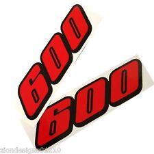 600 GSXR SRAD autocollants pour Moto personnalisé graphiques x 2 rouge