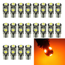 20Pcs Canbus Error Free Yellow T10 194 W5W 5050 5SMD Car LED License Light Amber