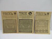 MES-46126 Alte Trix Metallbaukasten Faltblätter,ohne Original Verpackung,