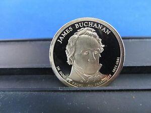 2010 S James Buchanan $1 Coin Deep Cameo Proof Upper Grading Ranges - One Dollar