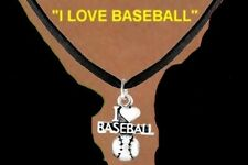 LOVE BASEBALL  Necklace Girl Team Base School Ball Bat Sports Glove Kids Jewelry