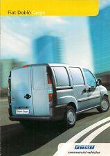 Fiat Doblo Cargo Van 2004 UK Market Sales Brochure 1.2 1.9D 1.9JTD 1.3 Multijet