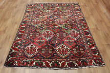 OLD WOOL HAND MADE  ORIENTAL FLORAL RUNNER AREA RUG CARPET 205x150CM