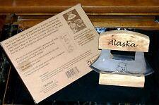 "Alaskan ULU Knife & Wood Display Stand 5"" Blade 1990's Arctic Circle W/Packaging"