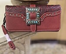 Westren montana west TR30-W002 Trinity Ranch Buckle Collection Wallet RED