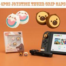 4PCS Bear Cat Silicone Joystick Thumb Grip Caps For Switch & Switch Lite Joy-Con