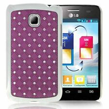 Hardcase Bling Diamond für LG Optimus L3 II E430 in lila Etui Hülle Case Cover