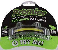 PROMIER 200 LUMEN COB LED CAP HAT FLOOD LIGHT 4.5 WATT BATTERIES INCLUDED