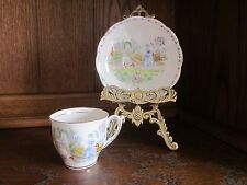 Bell Fine Bone China England - Lady in Garden Scene