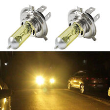 2Pcs Auto Car Truck H4 12V 60/55W Yellow Halogen Headlight Replacement Bulb Lamp