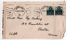 1942 CAPE TOWN South Africa COVER Cardinal Cushing BOSTON USA Kaapstad Catholic