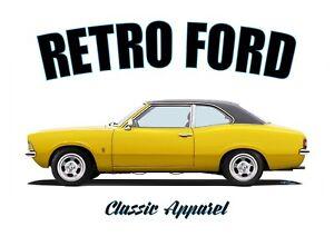FORD CORTINA MK3 2 DOOR t-shirt. RETRO FORD. CLASSIC CAR. MODIFIED.