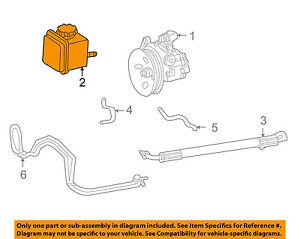 Mercedes MERCEDES-BENZ OEM 00-06 S500 Power Steering-Reservoir Tank 0004600183