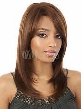 Wigs,brun Moyen raide santé cosplay Costume cheveux perruques