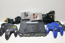 Nintendo N64 System Console Bundle +Cables +2 Controller +2 Games TESTED WORKING