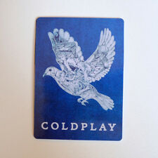 """Coldplay Magic Dove 6x8cm 3"""" suitcase luggage guitar Decal Sticker #2192"""