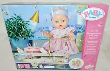 More details for new baby born (830789) happy birthday set w/dress, crown, cake - for 43 cm dolls