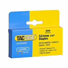 Tacwise Heavy Duty 53 Series Staples 4mm 2000