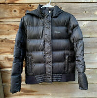 Marmot Girls 700 Down Fill Winter Warm Puffer Puffy Jacket Black Sz XL