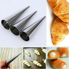 Stainless Steel Dessert Tube Cannoli Croissant Bake Cone Tube Pastry Cake Decor