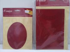 2 x Ornare Embossing Embroidery Pricking Stencil Template - Floral / Border