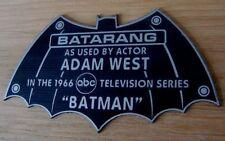 CUSTOM 1966  BATARANG DISPLAY NAME PLATE BATMAN TV SERIES