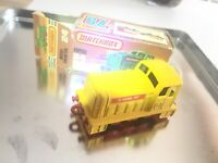 Matchbox Lesney m. ORIGINAL Verpackung Nr.24 Alte Spielzeug Lok Shunter / GELB !