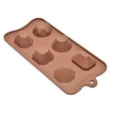 1 Pcs Diamond Ice Tray DIY Silicone 3D Gem Fondant Mould Cake Chocolate Mold ATA