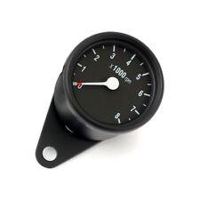 COMPTE-TOURS 60 mm 8000 RPM 1:1 NÉGATIF CUSTOM HARLEY CAFE RACER CORPS NOIR