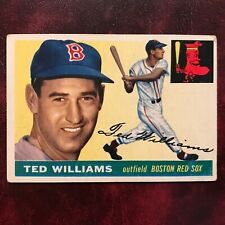 1955 Topps Set TED WILLIAMS ERROR #2 BOSTON RED SOX - VG-EX