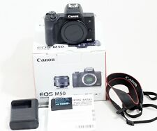 Canon EOS M50 Mirrorless Camera Body Only and Items Shown Black