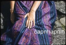 Out of Frame Woman Beautiful Dress Shows Off Wedding Ring Vtg 1950s Slide Photo