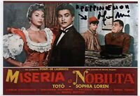 Miseria e Nobiltà Franco Melidoni Foto autografata Cinema Autografo Signed Photo