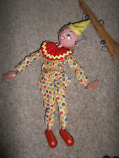 Vintage Pelham Puppets Clown in Spotted Suit String Puppet, Needs restringing