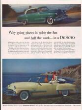 1953 DeSoto PRINT AD Convertible & Hardtop Coupes California Roads Coast Beach