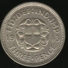 More details for 1943 george vi silver threepence coin better date | british coins|pennies2pounds