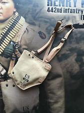 Soldier Story Henry Kano infantería 442nd 1943 Bolsa de máscara de gas Suelto Escala 1/6th