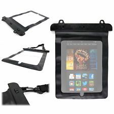 Black Waterproof Pouch For Amazon Kindle Fire & Fire HD With Strong Carry Strap
