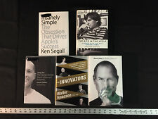 Lot of 5 Apple Books Steve Jobs Innovators Jony Ive Walter Isaacson iPhones