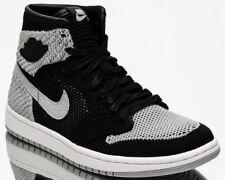 Air Jordan 1 Retro High Flyknit BG Shadow Grey youth shoes NEW black 919702-003