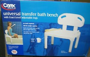 Carex Universal Tub Transfer Bench, Shower Bench and Bath Seat, Shower Chair